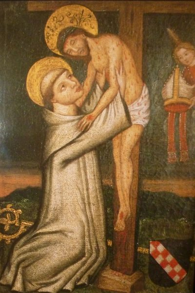 Jesus umarmt Bernhard vom Kreuz herab
